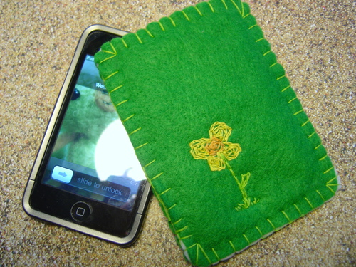 Green Daisy iPhone Cozy